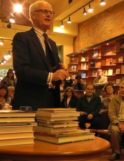 nicholas hoare giving a Toronto book talk